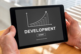 Business development concept on a tablet - 222466437