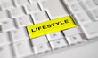 Word lifestyle on computer keyboard key