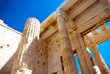 columns of the ancient Greek Acropolis - 222469060