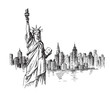 New York hand drawn