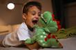 Big and scary stuffed dragon