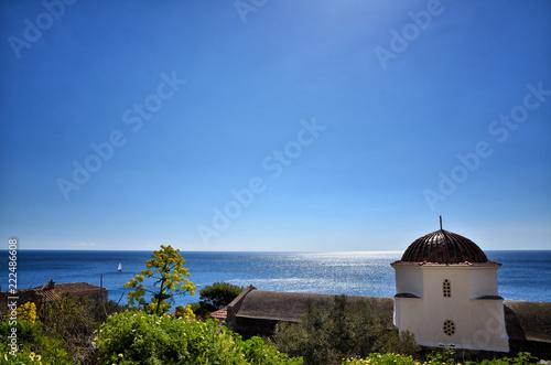Fototapeta Monemvasia is located in Laconia, Peloponnese, Greece, on a small island