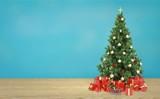 Beautiful Christmas Tree on desk