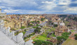 cityscape of Rome city, Italy. aerial view