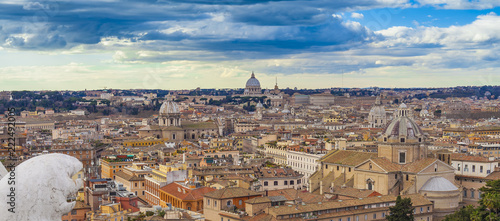 cityscape of Rome city, Italy. aerial view - 222492005