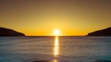 Sunset or sunrise over sea surface