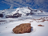 Rock in the area of the Kazbek mountain - 222511246
