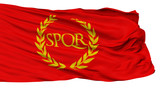 Roman Empire Spqr Isolated Flag With White Background, 3D Rendering - 222517626