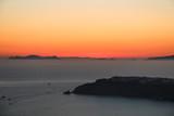Sunset Looking over the Caldera Santorini Greece