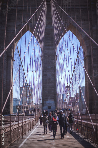Fridge magnet Brooklyn Bridge Perspective, New York City
