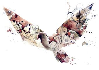 abstract bird © okalinichenko
