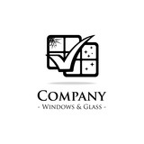 Windows and glass logo. vector and illustration.