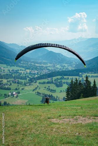 Sticker Gleitschirmflung in der Steiermark