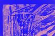 Leinwandbild Motiv Pink and blue hand painted background texture with  brush strokes