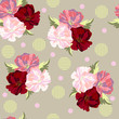Seamless background with beautiful poppies. Design for cloth, wallpaper, gift wrapping. Print for silk, calico and home textiles.Vintage natural pattern - 222541219