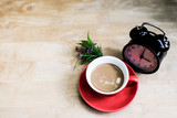 Start the morning with a cup of hot coffee. - 222559077
