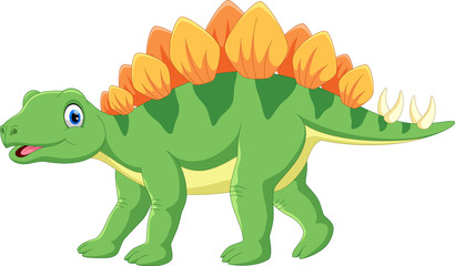 Cute stegosaurus cartoon © irwanjos