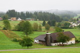 Austria landscape of rural farm steads - 222566629