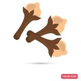 Clove spice color flat icon - 222570498