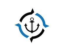 Anchor Icon Logo Template  Illustration Sticker