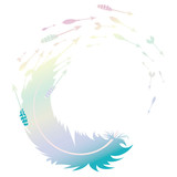Colorful Feather and Arrows - 222574626