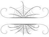 Decorative spider web border - 222575000