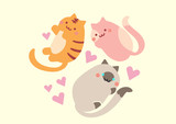 cute happy cat collection
