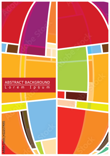 Poster Abstract vector background