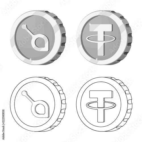Vector Design Of Cryptocurrency And Coin Sign Set Of Cryptocurrency