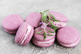 french macarons with lavender flavor - 222583624