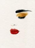 beautiful woman. fashion illustration. watercolor painting - 222594468