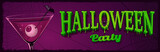 Halloween horizontal banner with illustration of cocktail with eyes inside. - 222598648