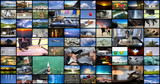 Big multimedia video wall with A variety of images - 222601811