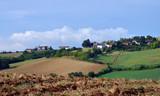 veduta panoramica di alcuni angoli del Monferrato, Piemonte, Italia - 222607604