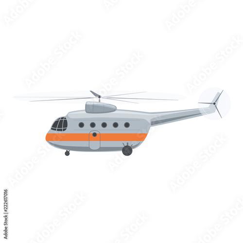 Fototapeta Helicopter Isolated on White Background, Vector Illustration