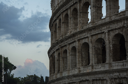 Colosseum during sunset in Rome - 222618005