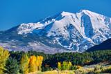 Mount Sopris autumn landscape in Colorado