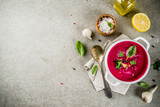 Beetroot gazpacho soup - 222630047