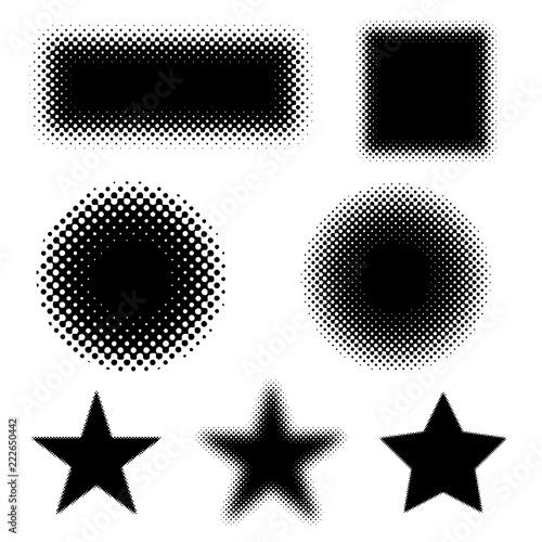 Vector Halftones Shapes - 222650442