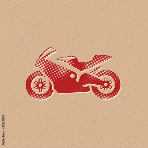 Halftone Icon - Motorcycle