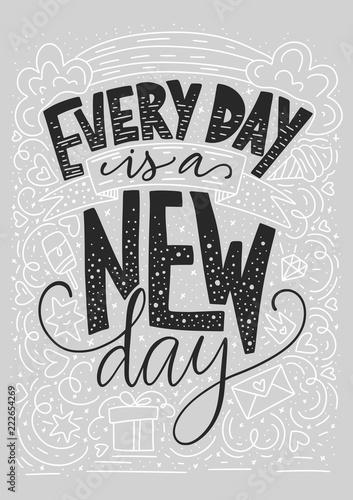 codziennie-jest-nowy-dzien-pozytywna-inspiracyjna-wektorowa-literowanie-karta-iilustracja-reczna