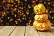 Halloween background with jack o lantern pumpkin