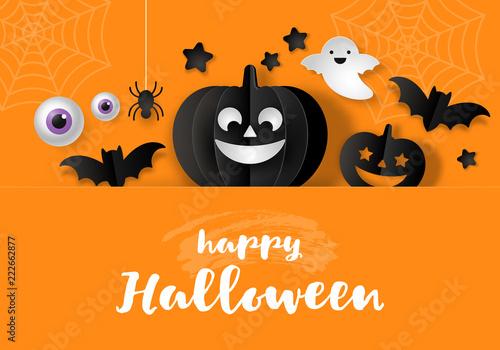 Halloween banner design - 222662877