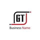 Initial Letter GT Logo Template Design