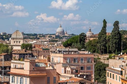 Widok na Rzym do Bazyliki Świętego Piotra