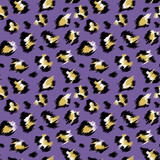 Fashionable Leopard Seamless Pattern. Stylized Spotted Leopard Skin Background for Fashion, Print, Wallpaper, Fabric. Vector illustration - 222669262
