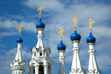 Exquisite tented roofs  of the Church of the Nativity at Putinki - 222673667