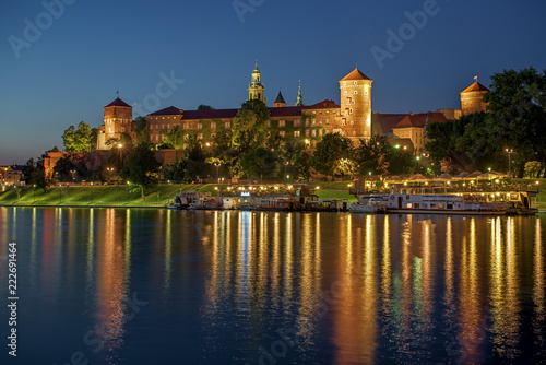 Wawel Royal Castle at sunset	 - 222691464