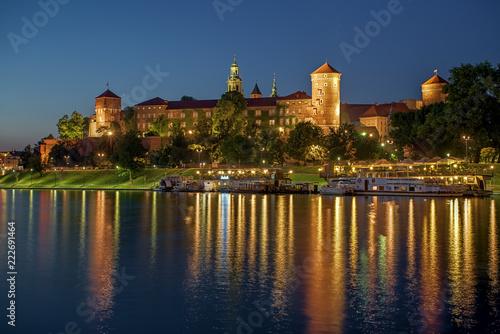 Wawel Royal Castle at sunset - 222691464