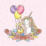 birthday, party, unicorn, party cartoons